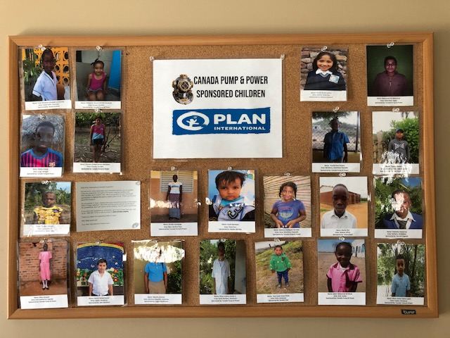 One of many boards in our head office showing some of our child sponsorship connections.